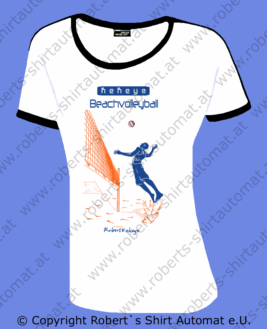 Beachvolleyball Damen Tshirt, Ball, Beach, Kekeye Design