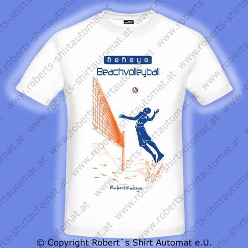 Beachvolleyball Tshirt, Ball, Beach, Kekeye Design