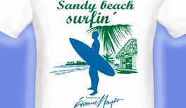 Surfer T-Shirt, Segelschiff T-Shirt, Papagei T-Shirt, Urlaubskollektion, designed by E.Mayer & Kekeye