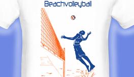 Beachvolleyball T-Shirt, designed by Kekeye