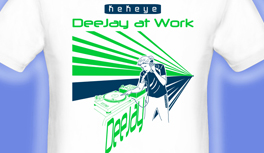 Dee Jay, DJ T-Shirt, designed by Kekeye