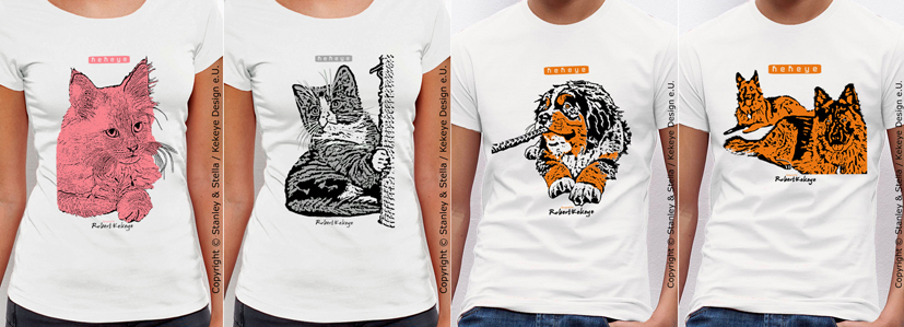 Hund, Katze T-Shirts by Kekeye / Fotos © Kekeye Design e.U.