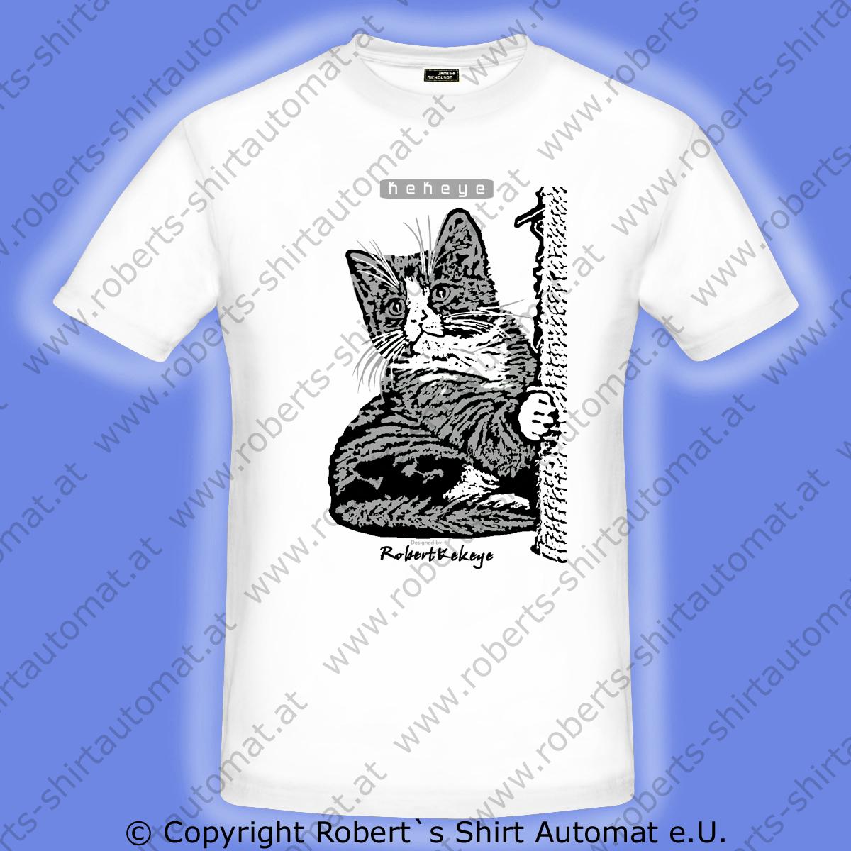 Katze-Tshirt-Akima-Design-Kekeye