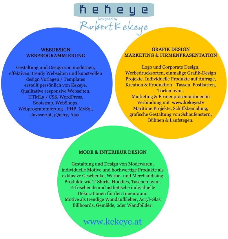 Kekeye Design Leistungen - Webdesign, Grafik, Mode, Interieur Design / Foto © Kekeye Design e.U.