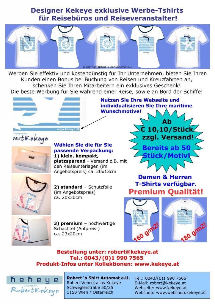Marine Kekeye Tshirts, Kreuzfahrten, Reisebüros / Reedereien Angebot