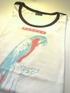 Siebdruck Papagei Tshirt Kekeye Design