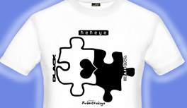 Black and White T-Shirt, Schwarz und Weiss T-Shirt Kollektion, Puzzle T-Shirt, Schach, Yin Yang T-Shirt, Klavier T-Shirt, designed by Kekeye
