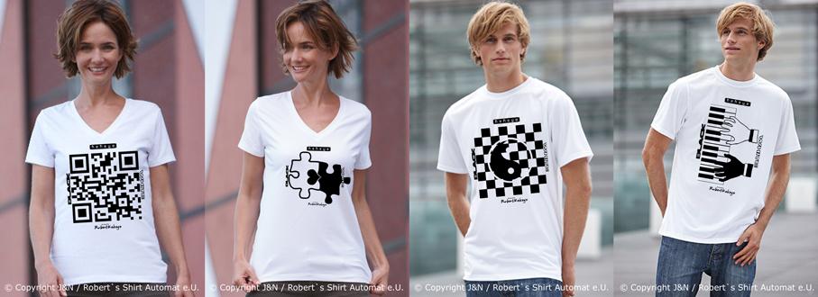Black & White T-shirts, Kekeye Design / Foto © J & N, Robert`s Shirt Automat e.U.