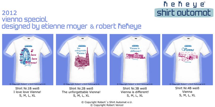 Wien Vienna T-Shirt Kollektion, Kekeye Shirt Automat
