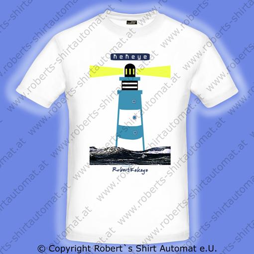 Leuchtturm, Muschel, Marine T-Shirts, designed by Kekeye.