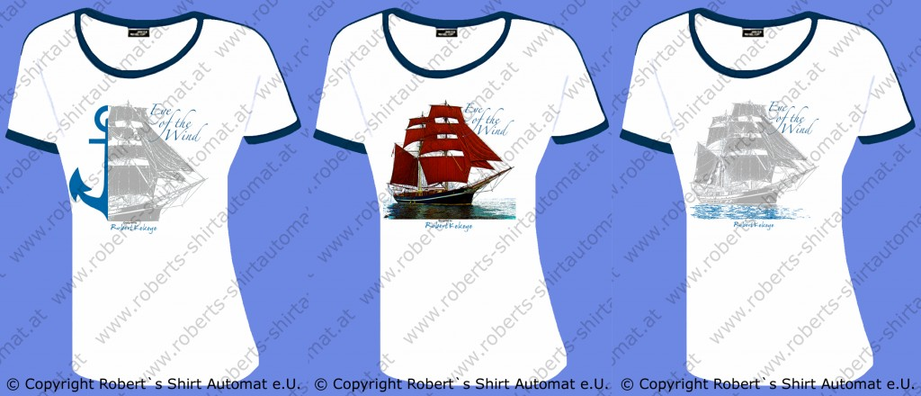 Eye of the Wind Segelschiff Design T-Shirts by Kekeye