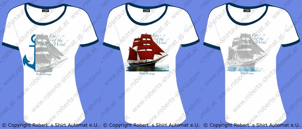 Eye of the Wind Segelschiff Design T-Shirts by Kekeye
