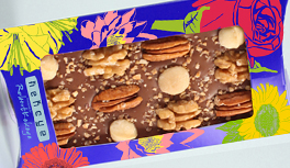 Schokolade im Blumen Design, Rose, Gerbera, Lilie, Sonnenblume, Seerose