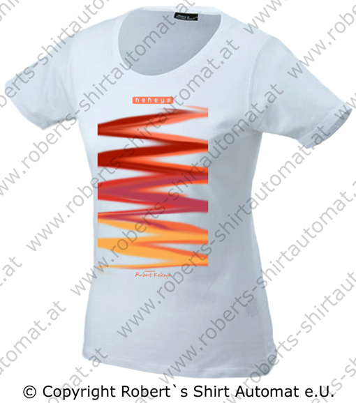 Color Your Life, Design 2, Damen T-Shirt / Foto © Robert`s Shirt Automat e.U.