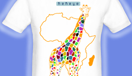 T-Shirt Giraffe, Afrika Motiv Color Magic! Farbenspiel!