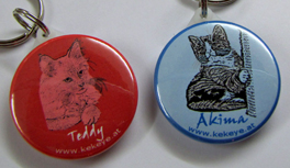 Hunde- und Katzen-Anhänger per Hand gezeichnet vom Designer Kekeye! Individuell und einzigartig!