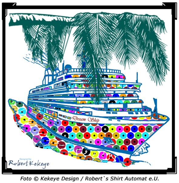 Cruise Ship Glass Billboard, Kekeye Dots Design / Photo © Kekeye Design, Robert`s Shirt Automat e.U.