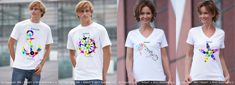 Maritime T-Shirts, NEU Kekeye Dots Design / Photo © J & N, Robert`s Shirt Automat e.U.