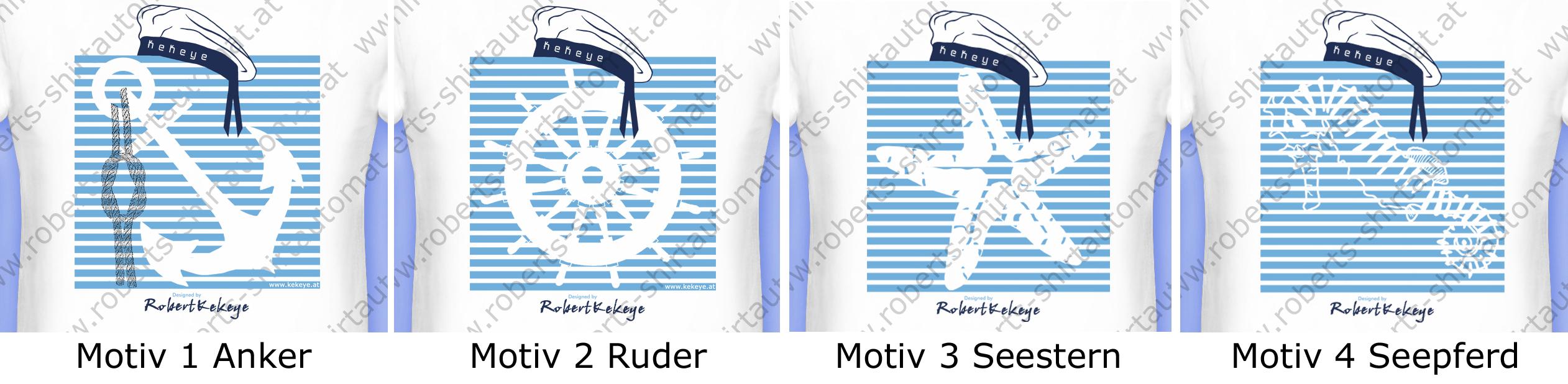 Maritime Wochen bei Kekeye, Anker, Ruder, Seestern, Seepferd T-Shirts / Foto © Robert`s Shirt Automat e.U.