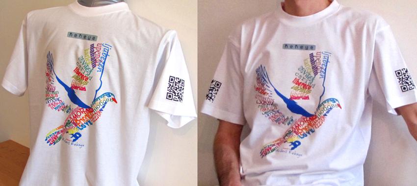T-Shirt Foto-Shooting Friedenstaube, Kekeye Design / Foto © Robert`s Shirt Automat e.U.
