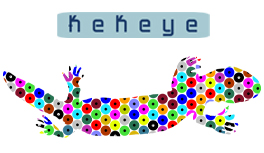 Echse, Eidechse, Reptilien T-Shirt Kollektion im neuen Kekeye Dots Design!