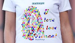 Wien, Vienna T-Shirts im neuen Kekeye Dots Design! Farbenfroh und unübersehbar!