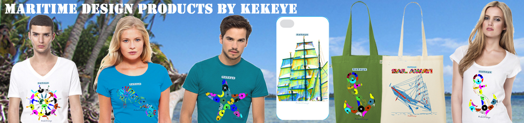 Maritime T-Shirts, NEW Kekeye Dots Design / Photo © Kekeye Design e.U. / Continental / Stanley & Stella