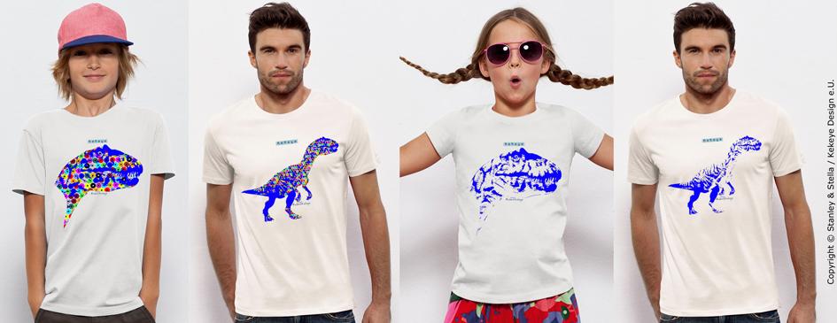 Dinosaurus, Dino, Tyrannosaurus Rex Tshirts, Kekeye Dots Design / Foto © Kekeye Design e.U.