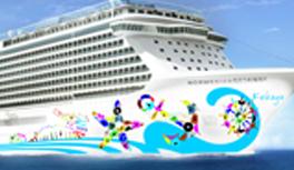Design-Vorschlag für die Schiffsbemalung des neuen Kreuzfahrtschiffes Norwegian Getaway!