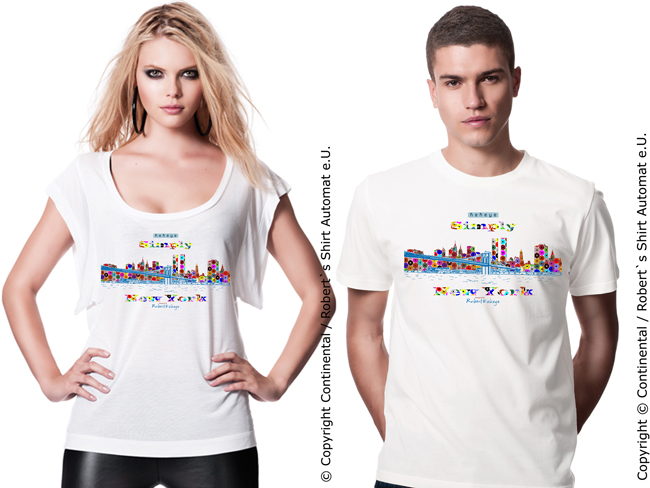 New York City Skyline, Catwalk Model, Kekeye Dots Design / Foto © Kekeye Design e.U.