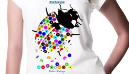 Eilmeldung! Die Dots Design Tiere verlieren Dots! Eidechsen, Marienkäfer Transformation T-Shirts