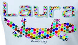 Dein Name auf T-Shirts in Kekeye Dots Design & Eidechse! Für Kinder, Damen & Herren