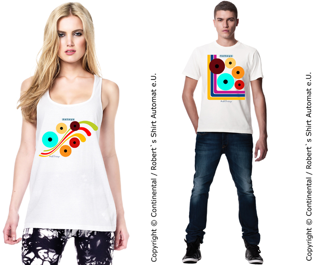 Retro Dots Tshirts / Foto © Kekeye Design, Robert`s Shirt Automat e.U.