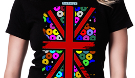 England Flagge in Kekeye Dots Design! Sommer T-Shirts in zwei Versionen weiß & schwarz.