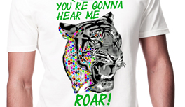 "Inspired by Music - ""You`re gonna hear me ROARRRR!"" - Tiger in Kekeye Dots Design"
