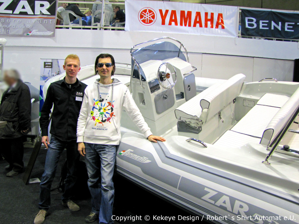 Kekeye Design at Austrian Boatshow Tulln / Photo Kekeye Design / Robert`s Shirt Automat e.U.