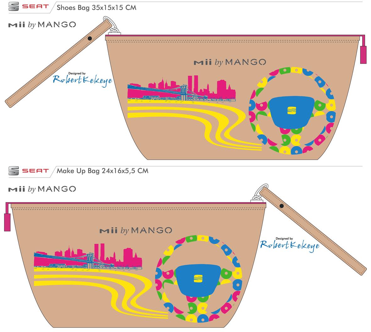 Seat Mii by MANGO, Make Up and Shoes Bag designed by © Kekeye
