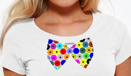 Krawatten, Fliege T-Shirt in Kekeye Dots Design - eine Idee, ein Wink und Dank!