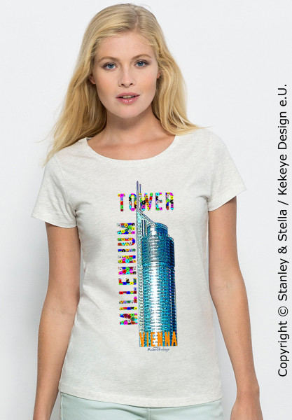 Das Millennium Tower Jubiläums-T-Shirt von Kekeye / Foto © Kekeye Design e.U. / Stanley & Stella