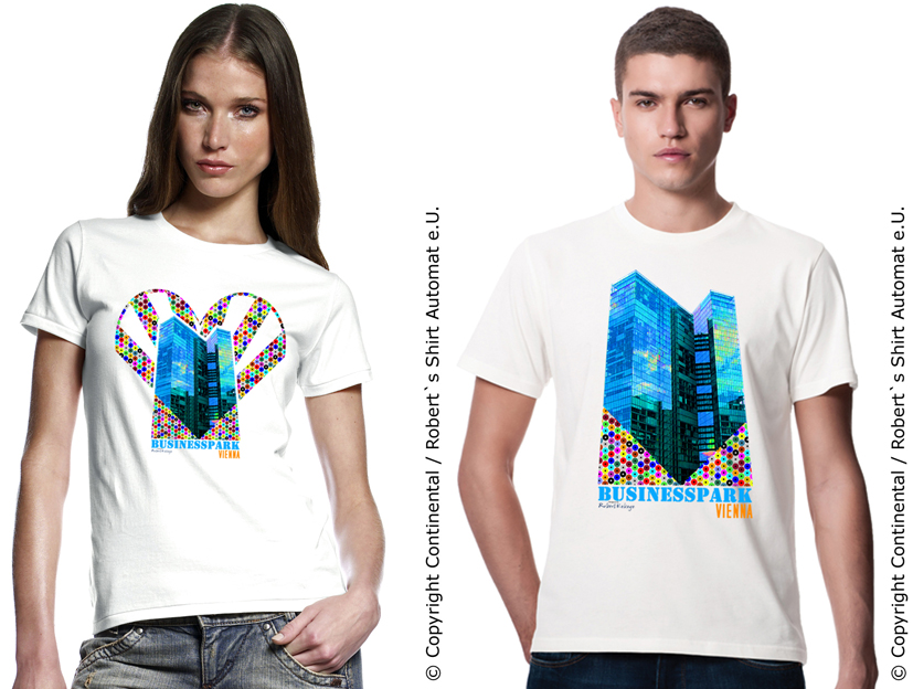 BusinessPark T-Shirt, TwinTower Wien, Vienna / Foto © Kekeye Design, Robert`s Shirt Automat e.U.
