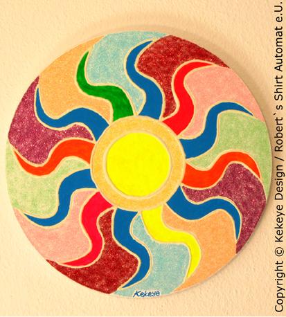 "Kekeye Gemälde ""Sonne"" - Kekeye Painting ""The Sun"" / Foto © Kekeye Design, Robert`s Shirt Automat e.U."