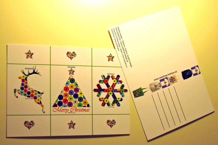Kekeye Postkarten zu Weihnachten / Foto © Kekeye Design, Robert`s Shirt Automat e.U.