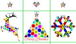 Exklusive kostenlose Postkarten zu Weihnachten von Kekeye Design, Dots Dots Dots
