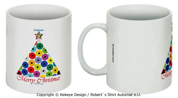 Weihnachtstasse in Kekeye Dots Design / Foto © Kekeye Design, Robert`s Shirt Automat e.U.