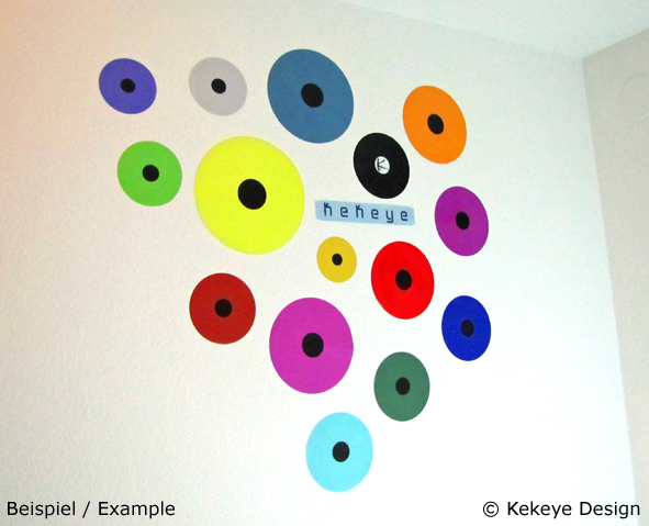 Wandaufkleber / Wall Sticker - Beispiel / Example - © Kekeye Dots Design