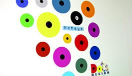 Wandaufkleber / Wall Sticker in Kekeye Dots Design - gestalte Dein Motiv selbst