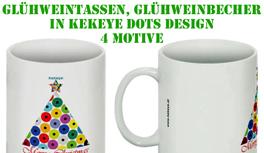 Glühweintassen, Glühweinbecher, Weihnachtstassen in Kekeye Dots Design