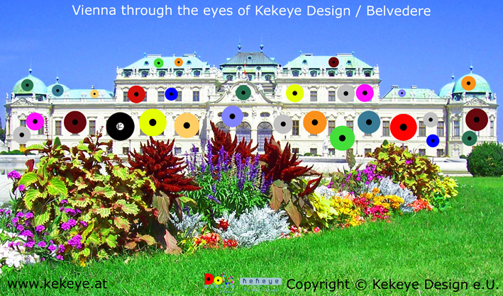 Belvedere Wien, Vienna in Dots Design / Photo © Kekeye Design e.U.