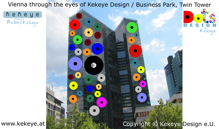 Business Park, Twin Tower Wien, Vienna in Dots Design / Photo © Kekeye Design e.U.