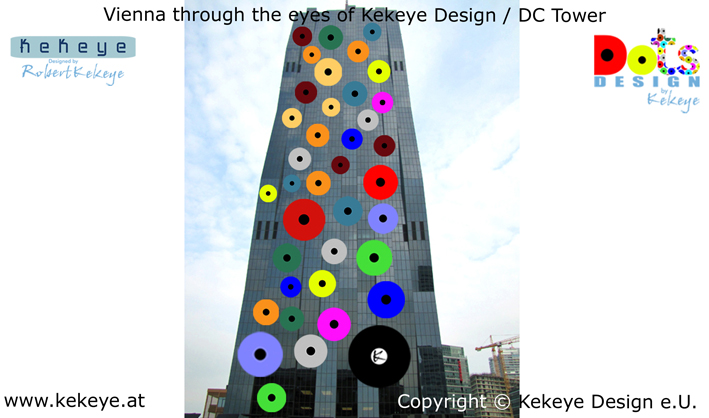 DC Tower Wien, Vienna in Dots Design / Photo © Kekeye Design e.U.